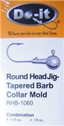 Round Head Jig - Tapered Barb Collar - RHB-1060